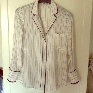Frame silk t shirt